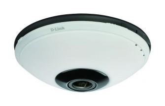 Die D-Link DCS-6010L ist ein Beispiel für eine IP-Überwachungskamera mit Fischaugenobjektiv und 360-Grad-Blickwinkel (Bild: D-Link).