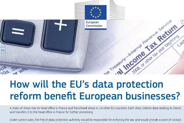 Laut EU-Komission bedeutet besserer Datenschutz durch die EU-Datenschutzverordnung m Ende auch bessere Geschäfte.