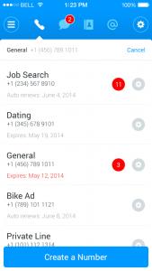 Nutzer können Shuffle-Nummer bestimmten Diensten zuweisen. Somit habe sie stets im Blick, von wem der Anruf stammt (Bild: Shuffle)
