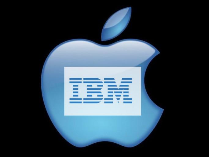 Logo von Apple und IBM