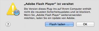 Safari zwingt Nutzer zum Update des Flash-Plug-ins (Bild: Apple)