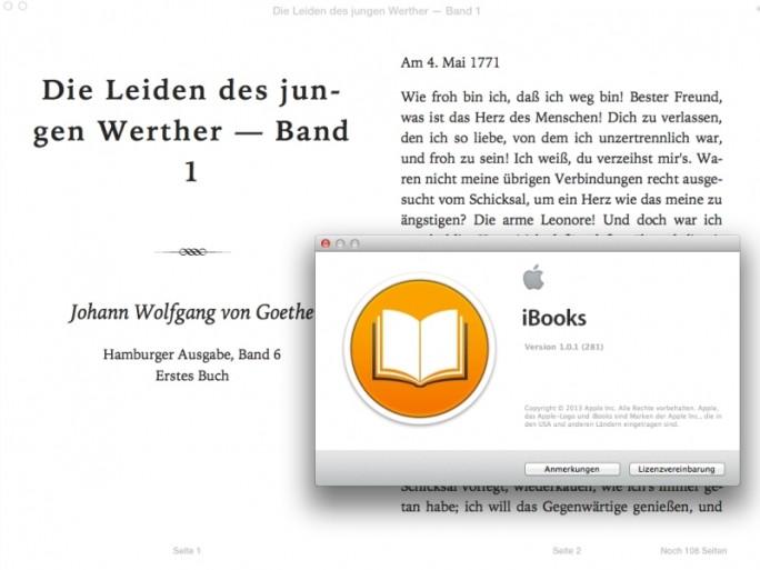Apple iBooks (Screenshot: ZDNet.de)