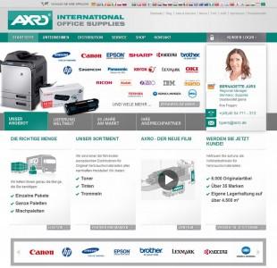 Der mit Magento umgesetzte Webshop des Bürobedarfsanbieters Axro (Screenshot: Daniel Hölzer).