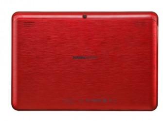 Das Hannspad-SN1AT74B ist für 169 Euro mit einer Rückseite aus gebürstetem Aluminium, wahlweise in Schwarz, Rot, Silber oder  Weiß erhältlich (Bild: Hannspree)