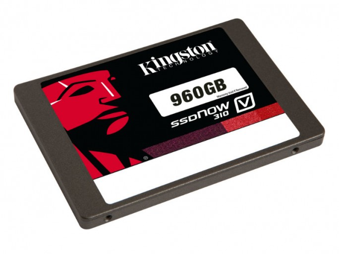 Die SSDNow V310 bietet 960 GByte Speicherplatz (Bild: Kingston).