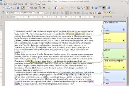 Verschachtelte Kommentare in einer importierten RTF-Datei in Writer (Bild: Vmiklos/ CC BY-SA 3.0)