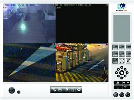 Live-Überwachung mehrerer Satndorte im Unternehmen mittels IP-Kameras und der passenden Software (Screenshot: D-Link).
