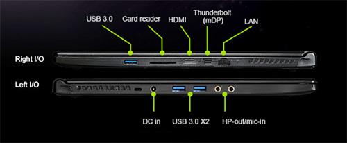 MSI WS60 Interfaces