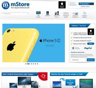 Im Web bleibt mStore auch nach der Schließung fast aller Ladengeschäfte noch ereichbar (Screenshot: ITespresso).