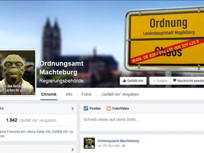 Facebook-Seite des Ordnungsamts Machteburg (Screenshot: ITespresso).