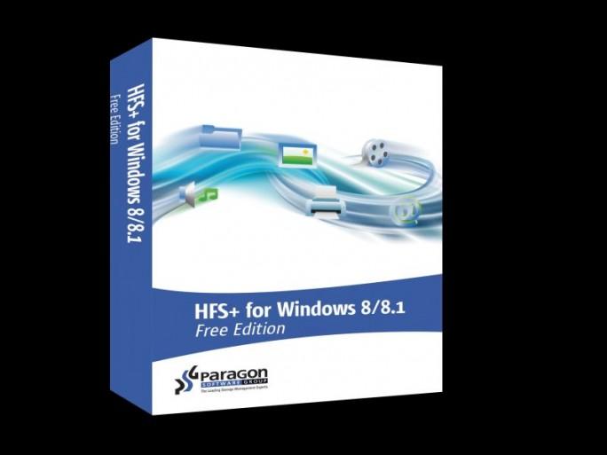 Paragon-HFS+ for Windows 8/8.1 Free (Packshot)