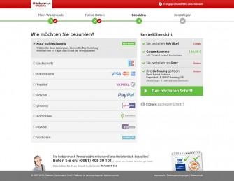 Bei Rakuten stehen Kunden beim neuen Checkout mehrere Zahlungsarten zur Auswahl (Screenshot: Rakuten)