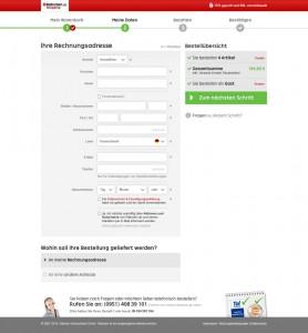 Eingabeformular für eine Gastbestellung bei Rakuten (Screenshot: Rakuten)
