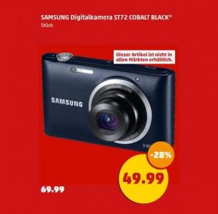 Penny hat ab 17. Juli die Digitalkamera Samsung ST72 im Angebot (Screenshot: ITespresso).