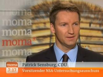 NSA-Ausschuss hat über Schreibmaschinen als Schutz vor Ausspähung nachgedacht, erklärte dessen Vorsitzender Patrick Sensburg im ARD-Morgenmagazin (Screenshot: ITespresso).