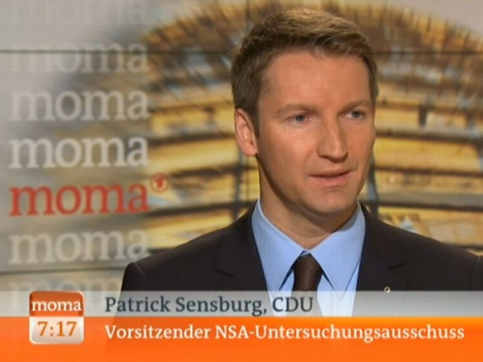 Patrick Sensburg im ARD-Morgenmagazin (Screenshot: ITespresso).