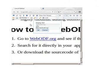Web ODF.org: Hyperlink-bearbeiten