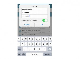 Winzip iPhone Verschluesselung