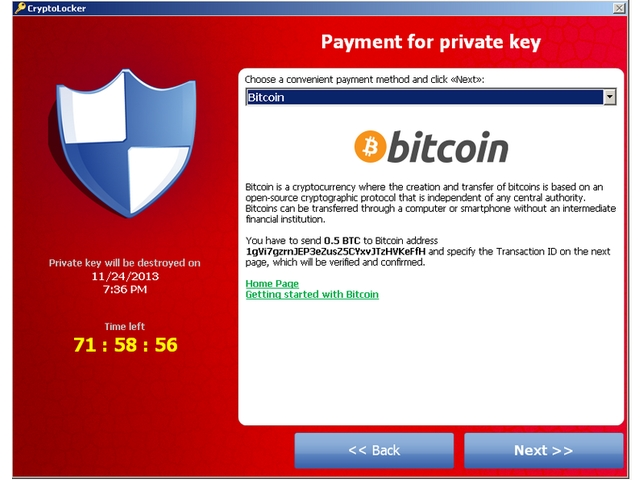 Cryptolocker Bitcoin (Bild: F-Secure)