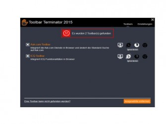 Toolbar-Terminator-Auswahl