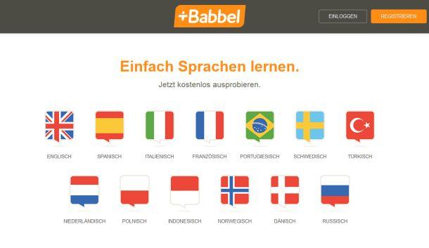 Mit dem neu hinzugekommenen Russisch können Nutzer bei Babbel nun Deutsch und insgesamt 13 weitere Sprachen online erlernen (Screenshot: ITespresso).