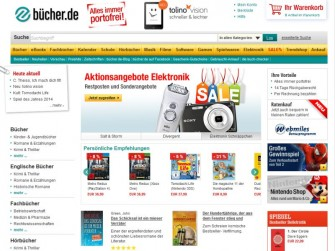 Bücher.de (Screenshot: ITespresso)