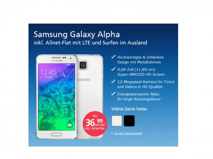Galaxy Alpha bei O2