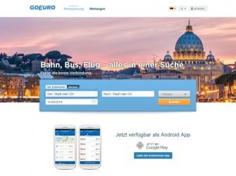 GoEuro Startseite (Screenshot: ITespresso)