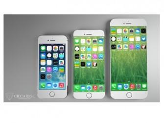 Fotomontage von iPhone-Modellen ohne Seitenrand (Bild: Ciccarese Design).