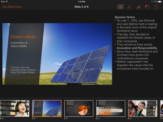 Die Referentenansicht von PowerPoint für iPad (Bild: Microsoft)