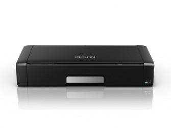 Der WorkForce WF-100W ist laut Epson mit 30,9 mal 15,4 mal 6,1 Zentimeter und 1,6 Kilogramm der kleinste und leichteste DIN-A4-Tintenstrahldrucker (Bild: Epson).