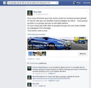 Mit einer neugegründeten Gruppe, die bereits über 1300 Mitglieder hat, aber nicht mehr öffentlich ist, wollen sich die Blitzer-Warner vor künftiger Verfolgung schützen (Screenshot: ITespresso.de)