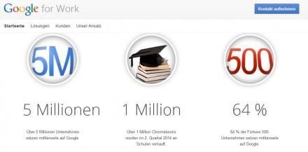Google for Work: Logo und Eckdaten (Screenshot: ZDNet)