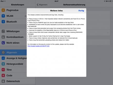 iOS 8.0.2: Apple bringt Update des misslungenen Updates