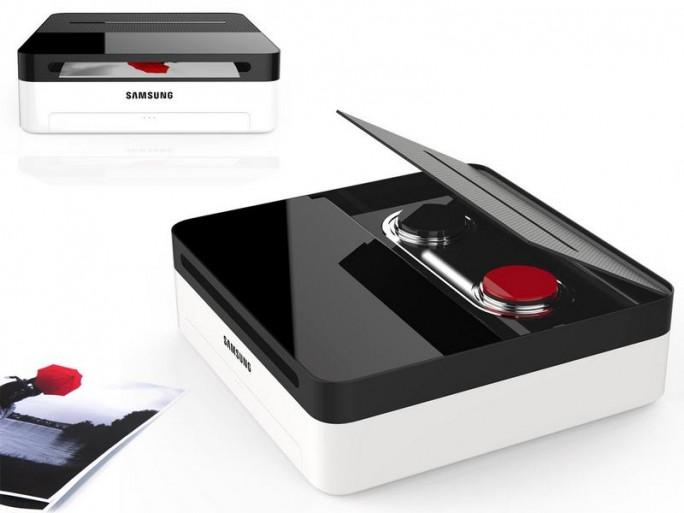 Der One & One ist eigentlich ein Schwarz-Weiß-Drucker, kann aber mit einer Farbkartusche erweitert werden. (Bild: Samsung)