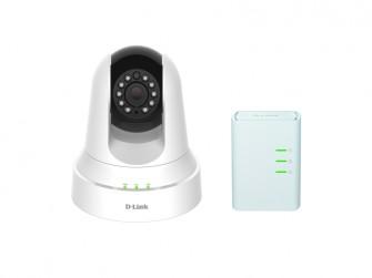 Die Überwachungskamera DCS-6045LKT kann direkt über die Stromleitung Aufnahmen zum Router und von dort ins Internet senden (Bild: D-Link)