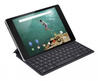 Das Nexus 9 mit der zusätzlich erhältlichen Tastatur- und Standfuß-Kombination Folio (Bild: HTC)