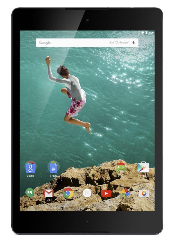 Das Nexus 9 mit Android 5.0 wird ab Anfang November in drei Ausführungen zu Preisen zwischen 399 Euro und 569 Euro ausgeliefert (Bild: HTC).