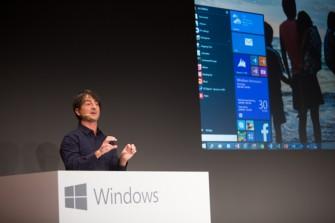 Windows 10 verfügt wieder über ein Startmenü, das Microsoft gegenüber Windows 7 um Live-Kacheln erweitert hat (Bild: Microsoft).