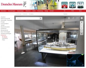 Virtueller Rundgang durch die Abteilun Schiffahrt des Deutschen Msueums (Screenshot: ITespresso).