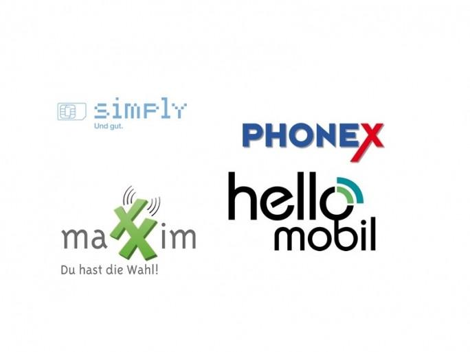Logos Simply, Maxxim, Phonex, HelloMobil