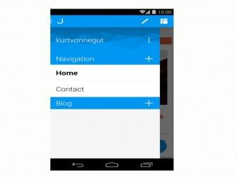 Jimdo Android Navigations-Screen