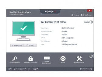 Kaspersky Small Office Security 3 Screen