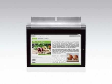 Das Lenovo Yoga 2 kann auch ohne separate Halterung an die Wand gehängt werden. (Bild: Lenovo)
