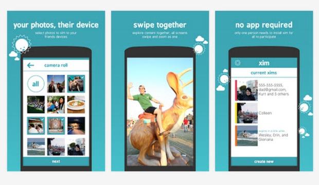Mit Microsofts App Xim können Nutzer bis zu 50 Fotos gleichzeitig an Freunde und Bekannte weiterleiten (Bild: Microsoft)