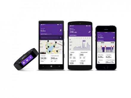 Alle Daten werden von der zugehörigen Health-App erfasst, die für Android, Windows Phone und iOS erhältlich ist (Bild: Microsoft).