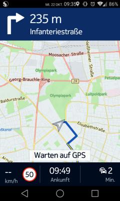 Nokia Here bietet auch eine Offline-Navigation und zeigt kann Tempolimits und aktuelle Verkehrsinfos anzeigen. (Screenshot: ITespresso.de)
