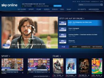 Sky Online richtet sich an Nutzer ohne Sky-Abo (Screenshot: ZDNet.de)