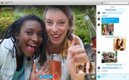 Das erweiterte Multitasking mit Skype für Mac 7.0 (Bild: Microsoft)