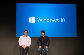 Die Microsoft-Manager Terry Myerson (links) und Joe Belfiore haben in San Francisco Windows 10 vorgestellt (Bild: Microsoft).
